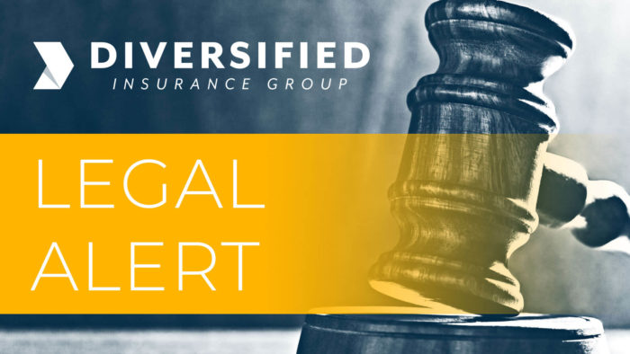 diversified legal alert about California's New COVID-19 Legislation